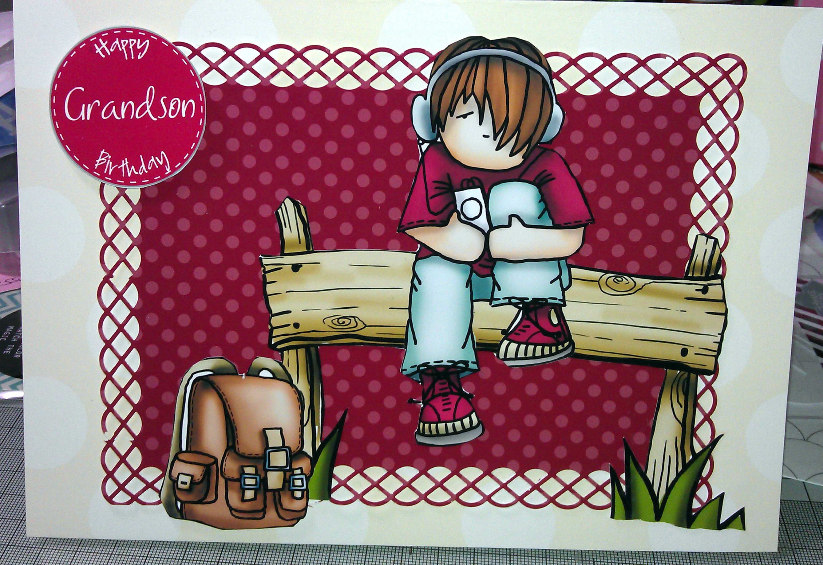Grandsons 13th Birthday Card Kamilicrafts